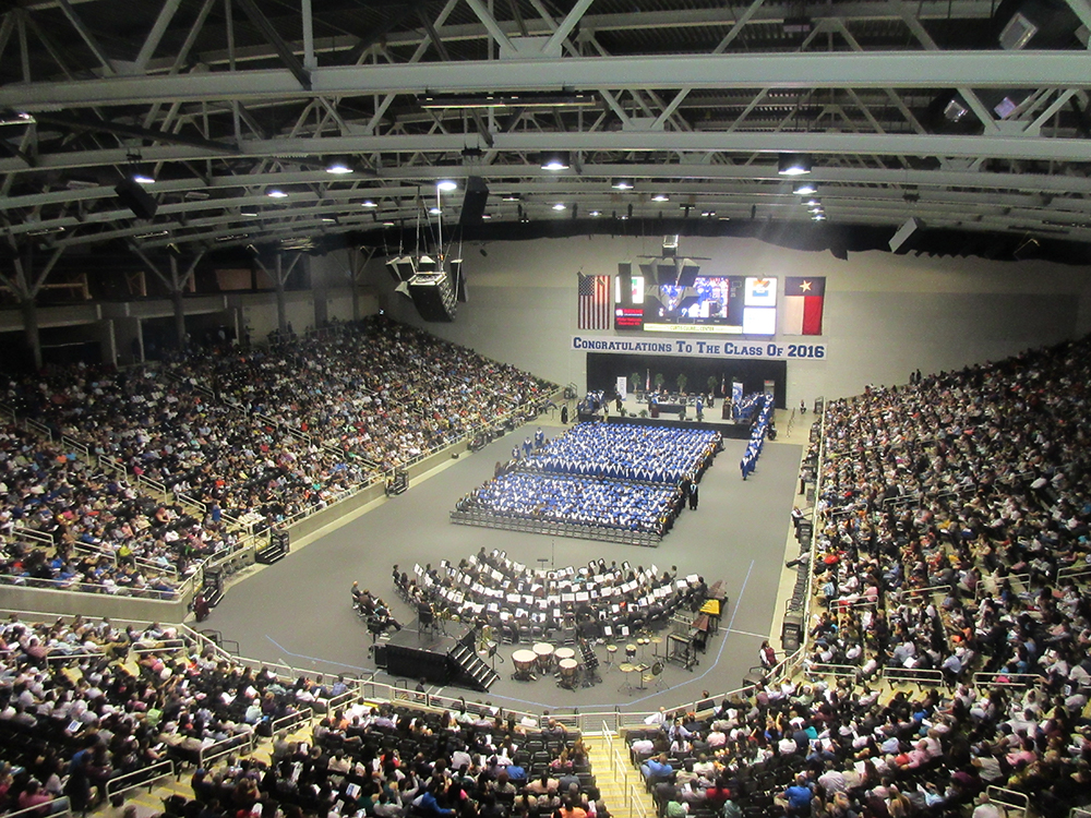 Graduation ceremony in the CCC arena