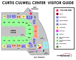 CCC Arena West Entrance map