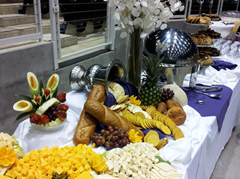 A sample of catered food at the CCC