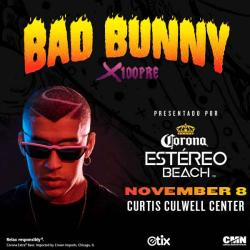 Bad Bunny headhsot wearing sunglasses